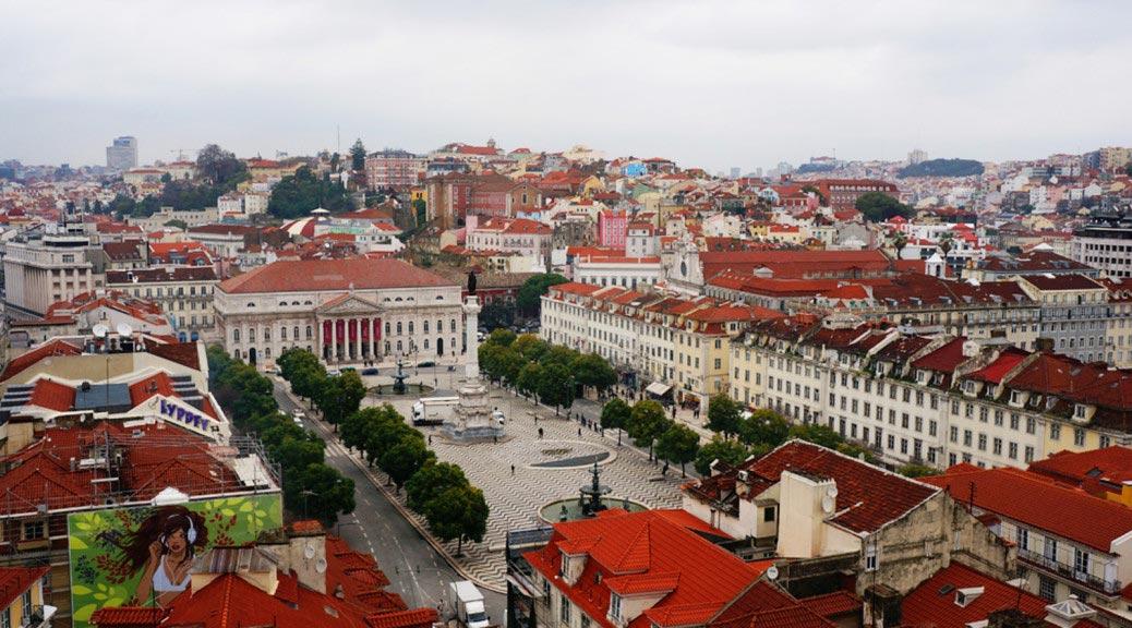 Praça Rossio (Praça de D. Pedro IV). Lisbon. Portugal