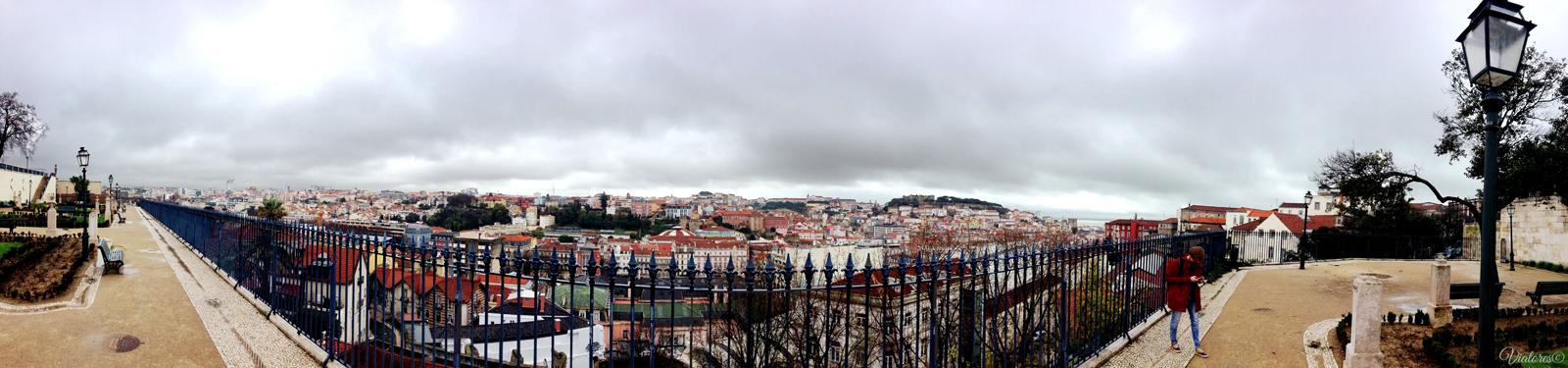 Miradouro de Sao Pedro de Alcantara.Lisbon. Portugal