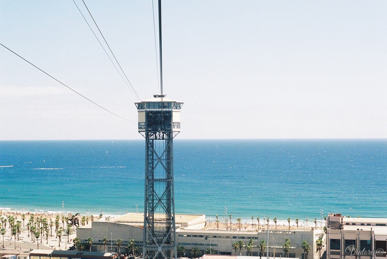 Teleferico del Puerto. Barcelona. Spain