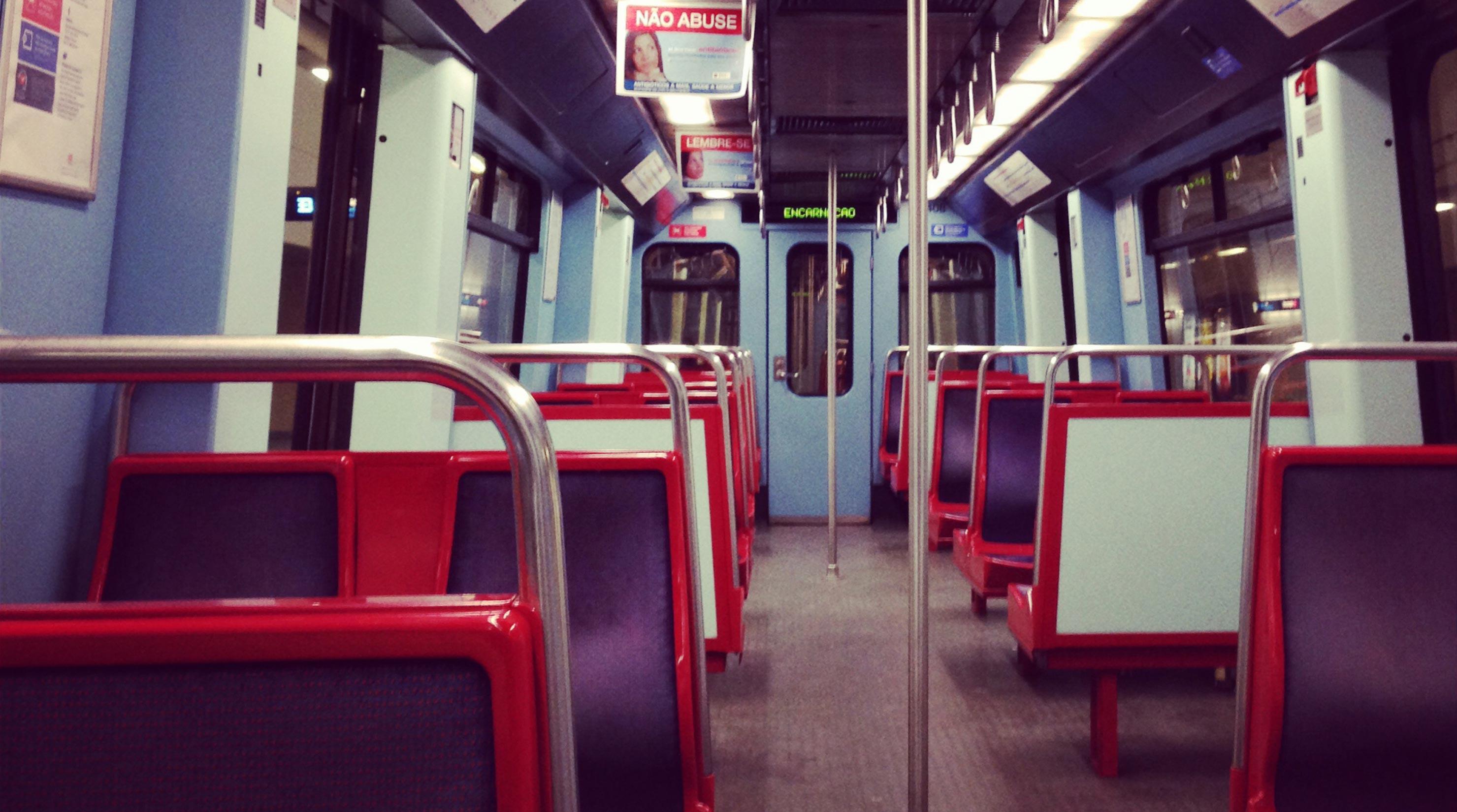 Вагон метро в Лиссабоне. Subway train Lisbon