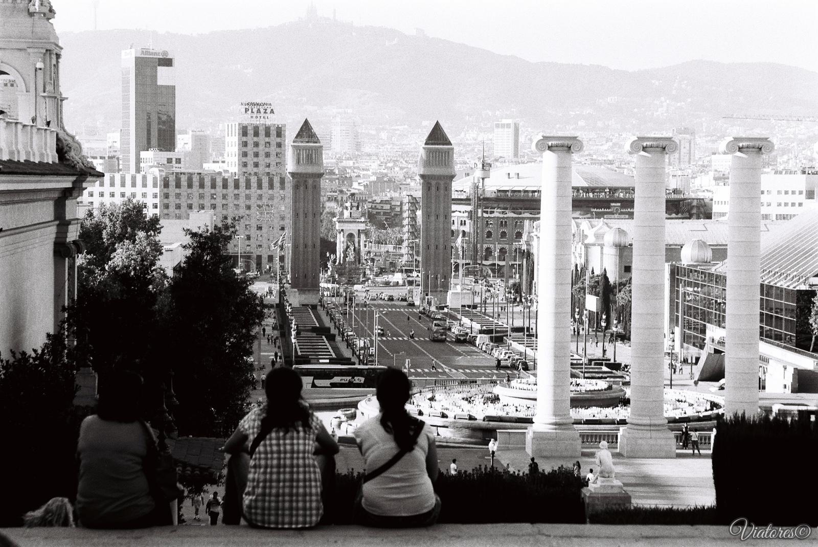 Placa Espanya. Barcelona. Spain