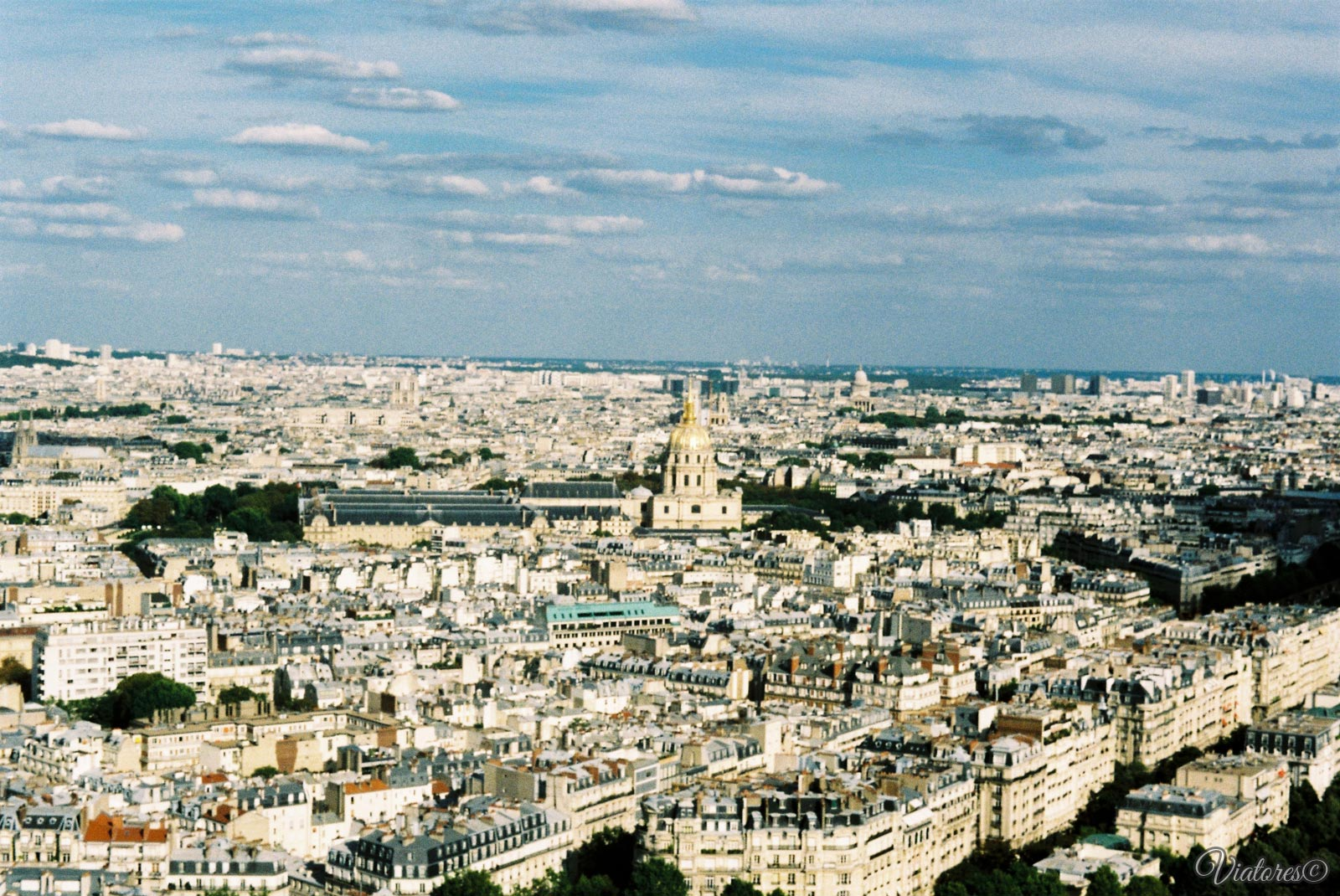 View from La tour Eiffel. Paris. France