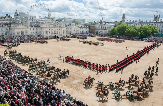 The Queen's Official Birthday. London. England
