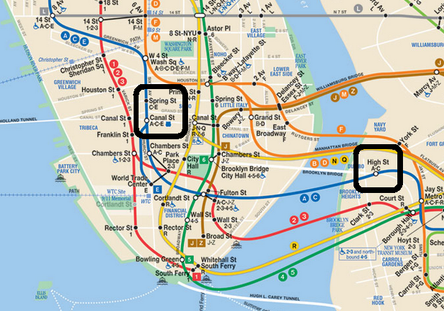 Subway Metro Map. New York