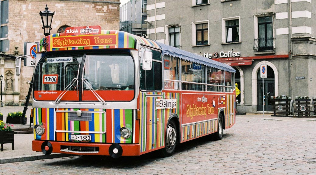 Sightseeing Tours Bus. Riga. Latvia