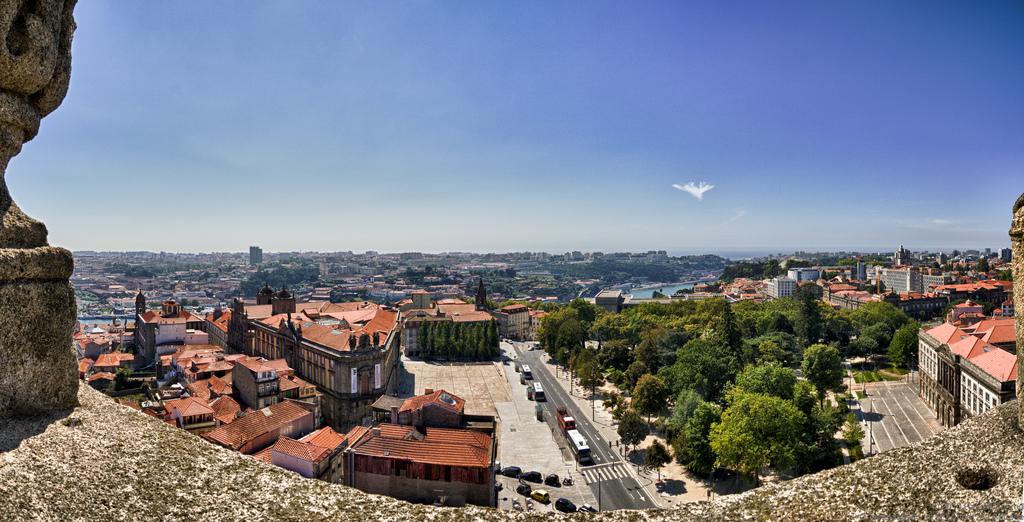 Jardim de João Chagas (Cordoaria) from Torre dos Clérigos. Porto. Portugal