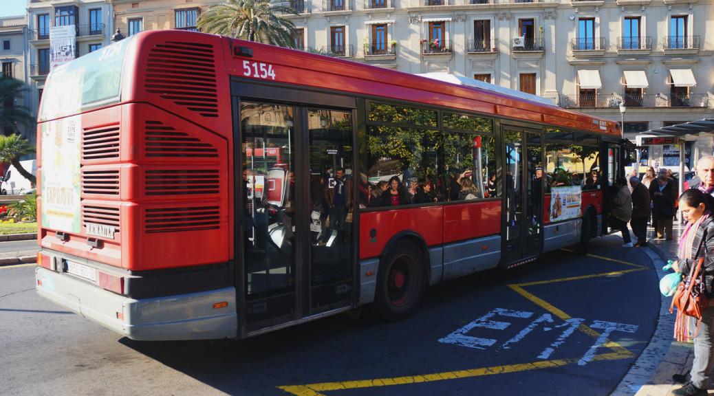 Public Transport. Bus. Valencia. Spain