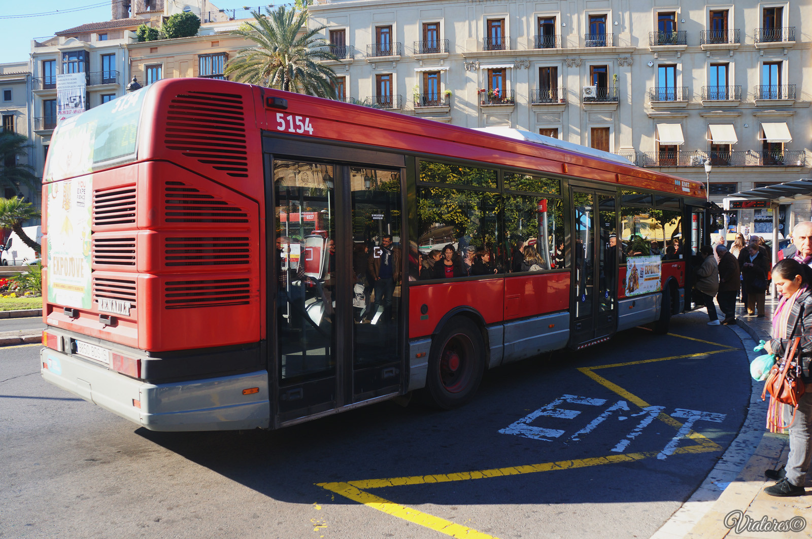 Public Transport. Bus. Valencia. Spain