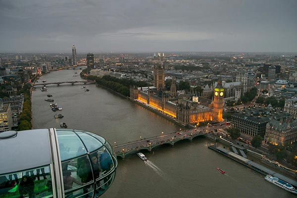 The view from London Eye. London. England