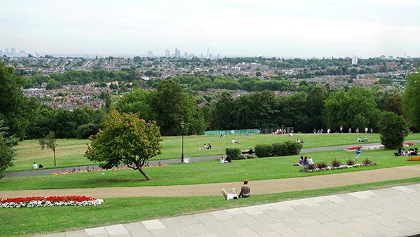 The view from Alexandra Palace. London. England