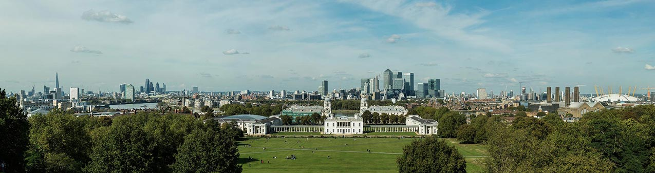 The view from Greenwich Park. London. England