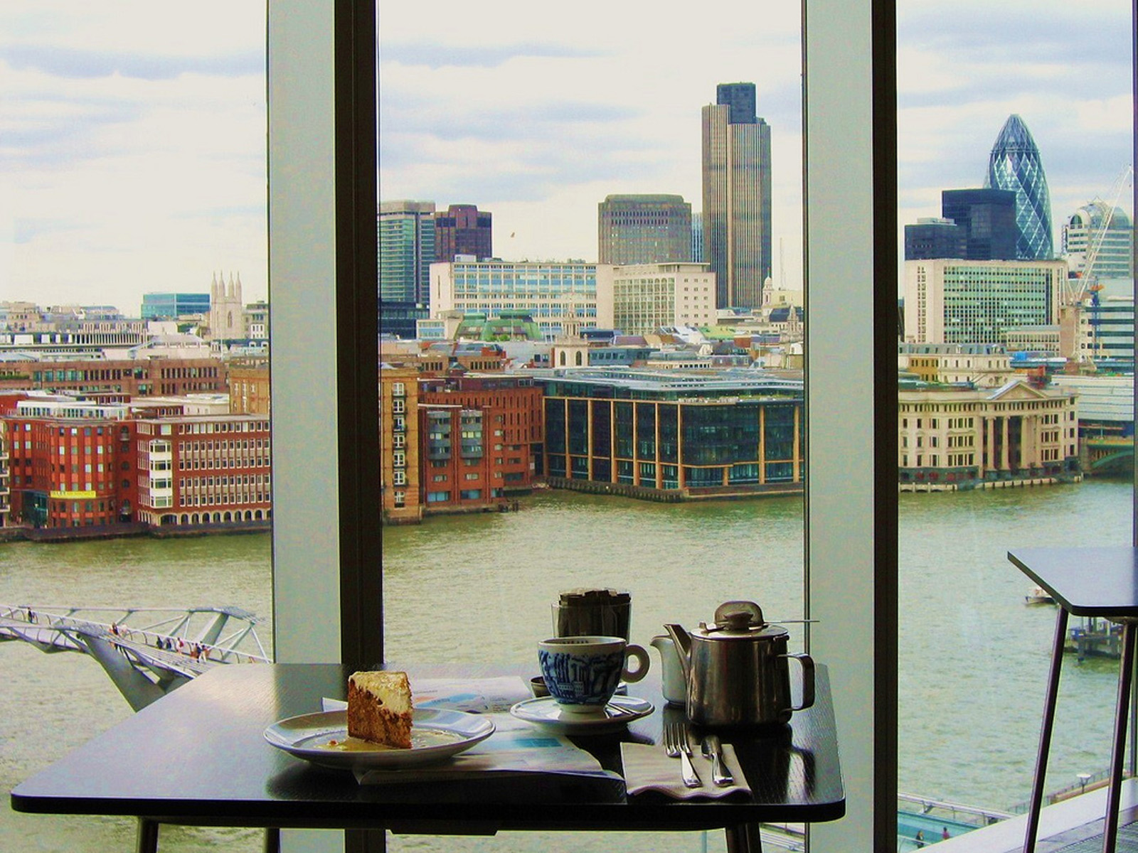 The view from restaurant at Tate Modern. London. England