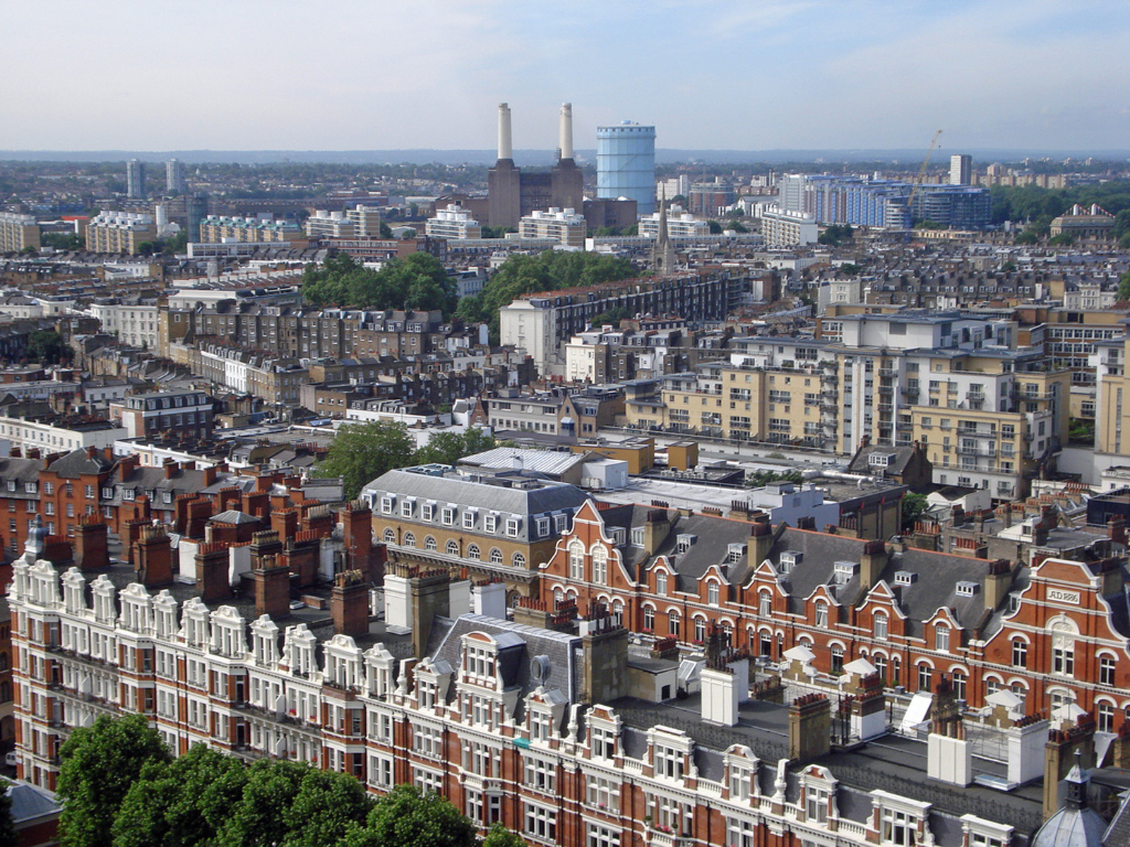 The view from Westminster Cathedral. London. England