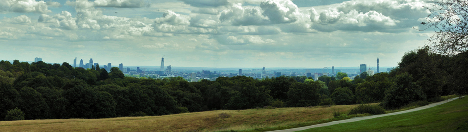 The view from Parliament Hill. London. England