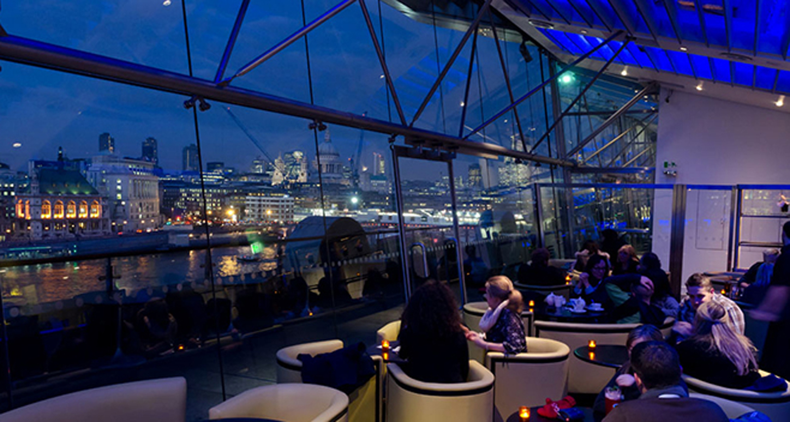 The view from OXO Tower Brasserie. London. England