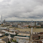 The view from St Paul's Cathedral. London. England