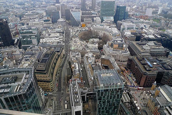 The view from Sushisamba. London. England
