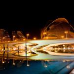 La Ciutat de les Arts i les Ciències de València. Valencia. Spai