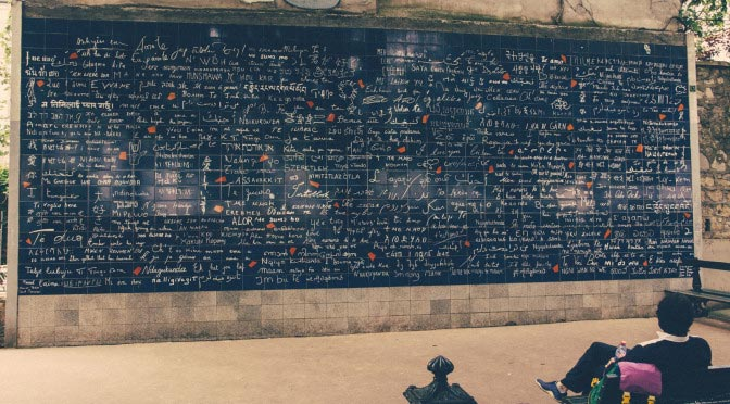 Le Mur des je t'aime. Paris. France