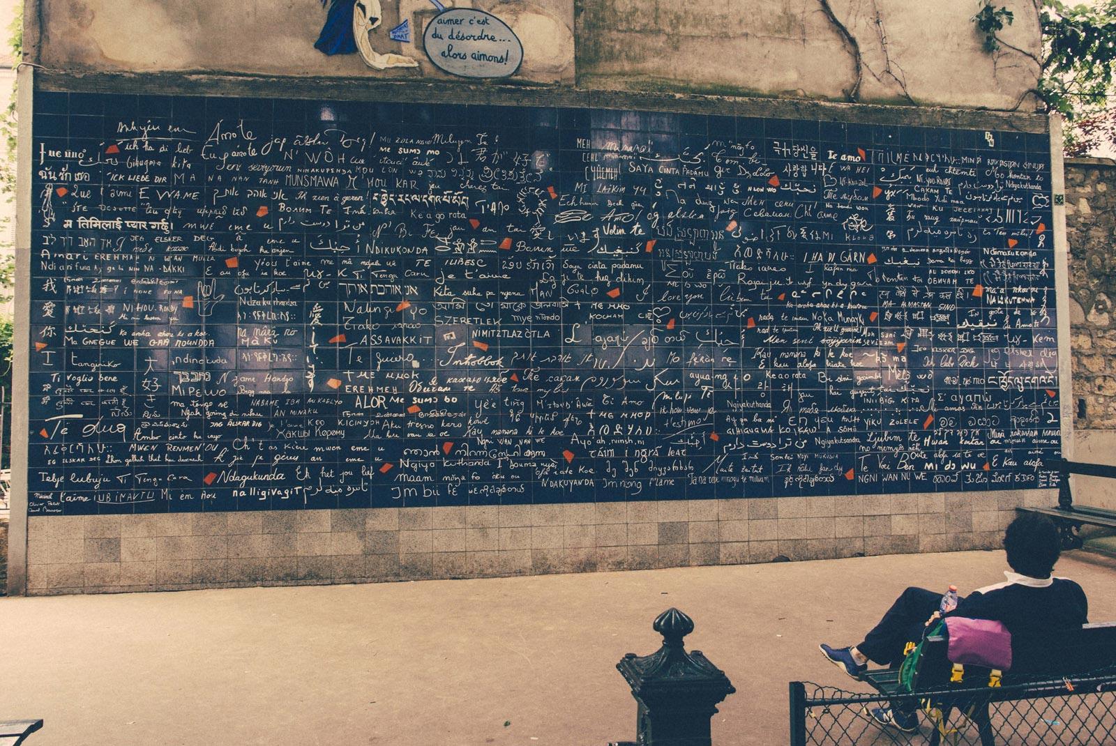 Le Mur des je t'aime. Paris. France