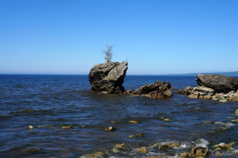 Валун Черепаха на побережье Байкала