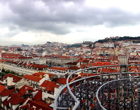 View from Elevador de Santa Justa. Lisbon. Portugal