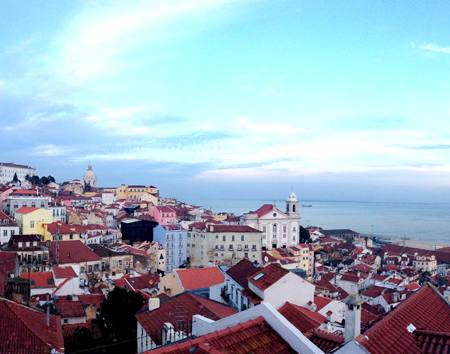 Miradouro Portas do Sol. Lisbon. Portugal